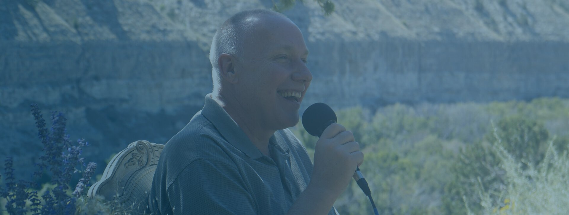 Nonduality teacher David Hoffmeister in joy